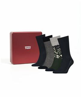 LEVIS AW18 GIFTBOX REGULAR CUT 4P DARK GREEN COMBO