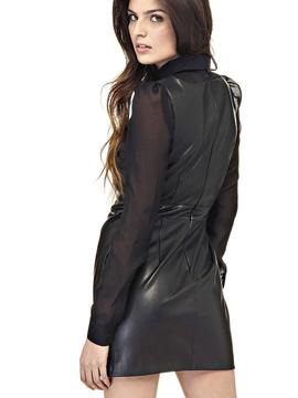 SLIM DRESS ECOLEATHER BLACK