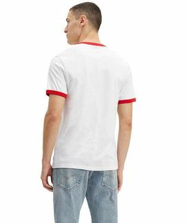 SS RINGER TEE BRAND INTEGRATED REGULAR FIT WHITE