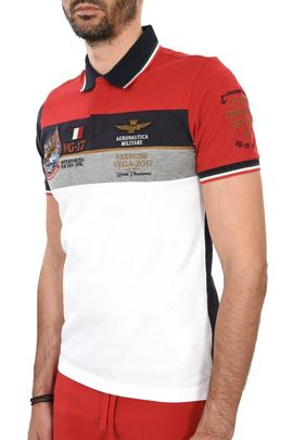 POLO M.C 191PO1351J1 RED / NAVY / WHITE