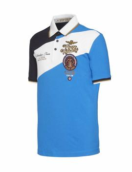 POLO M.C 191PO1344P138 NAVY / WHITE / ROYAL