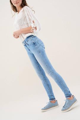 SECRET SKINNY FIT PREMIUM WASH EN DENIM AZUL