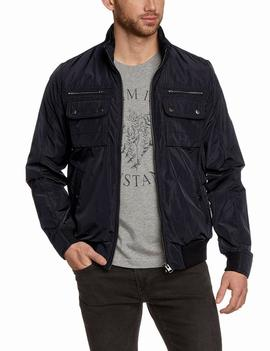 CLIFFDALE BOMBER REGULAR FIT NAVY BLAZER