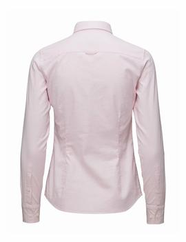 STRETCH SOLID OXFORD SLIM SHIRT LIGHT PINK