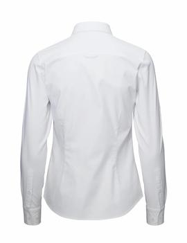 STRETCH SOLID OXFORD SLIM SHIRT WHITE