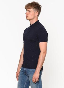 PERTOL 3 SLIM FIT POLO SS NIGHT SKY