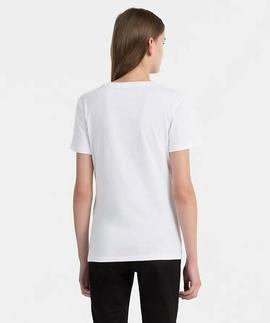 TANYA 40 CN TEE BRIGHT WHITE / TANGO RED