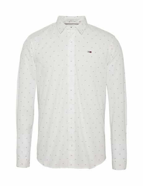 TJM NOVELTY DOBBY SHIRT SLIM FIT CLASSIC WHITE