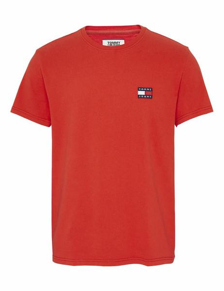 TJM TOMMY JEANS BADGE TEE REGULAR FIT FLAME SCARLE