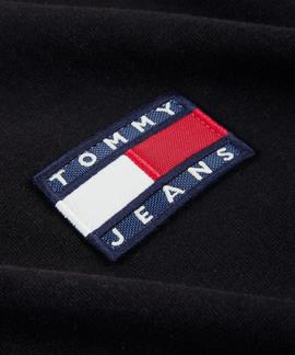 TJM TOMMY BADGE TEE REGULAR FIT TOMMY BLACK