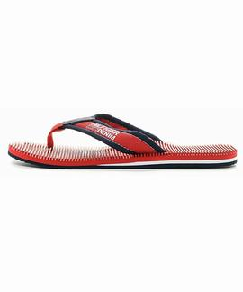 CHANCLAS TOMMY BEACH 2D TANGO RED / INK