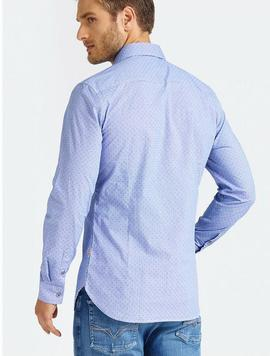 LS ALAMEDA SHIRT SLIM FIT BLUE