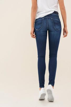 SECRET SKINNY FIT HIGH RISE EN DENIM AZUL LUREX