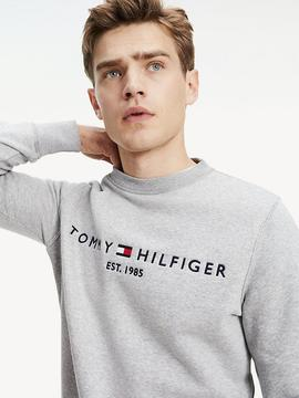 TOMMY LOGO SWEATSHIRT CLOUD HEATHER
