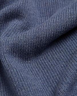 CHUNKY COTTON ZIP THROUGH VINTAGE INDIGO HEATHER