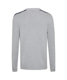 TJM TAPE SWEATER REGULAR FIT LT GREY HTR