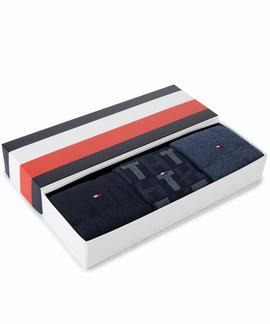 TH MEN MIXED STRIPES GIFTBOX 3 PACK DARK NAVY