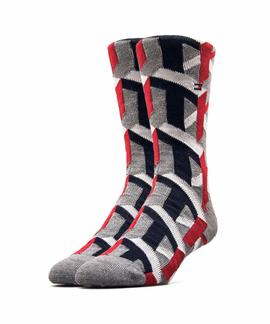 TH MEN SOCK 1 PACK 3D TH BLUE / RED / GREY