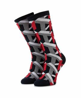 TH MEN SOCK 1 PACK 3D TH  NAVY / RED