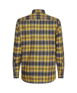 MIDSCALE TARTAN SHIRT REGULAR FIT SPECTRA YELLOW