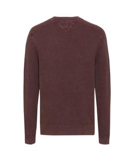 TJM GARMENT DYE SWEATER BURGUNDY