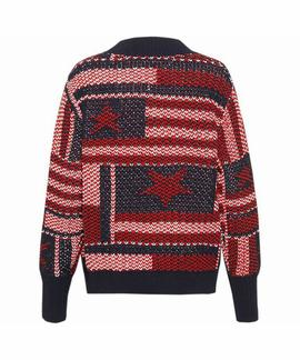 TJW AMERICANA STAR SWEATER BLACK IRIS / MULTI