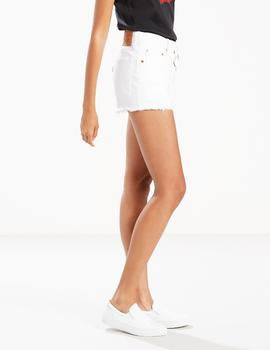 501 HIGH RISE SHORT SUPER SONIC WHITE