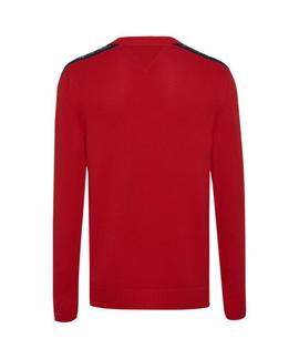 TJM TAPE SWEATER REGULAR FIT FLAME SCARLET