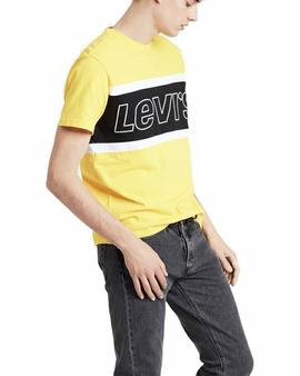 SS COLOR BLOCK TEE JERSEY YELLOW / WHITE / BLACK
