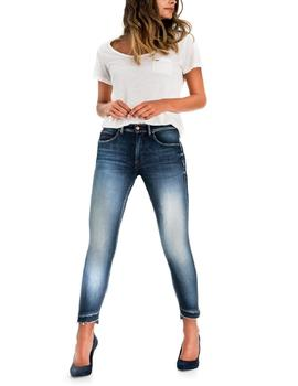SECRET GLAMOUR CAPRI SKINNY FIT HIGH RISE PREMIUN WASH AZUL