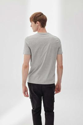 NATAL LABEL T-SHIRT MAN GREY MELANGE