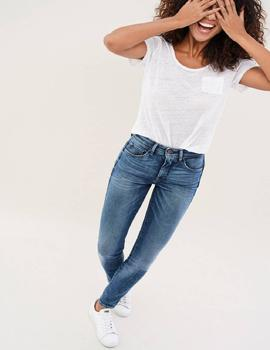 SECRET GLAMOUR SKINNY FIT HIGH RISE EN DENIM AZUL