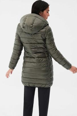 SHINE UMA COAT WOMAN DUSTY OLIVE