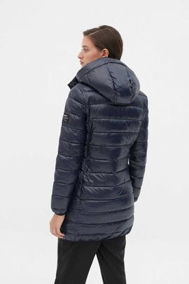 SHINE UMA COAT WOMAN DEEP NAVY