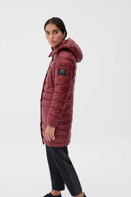 SHINE UMA COAT WOMAN BURGUNDY