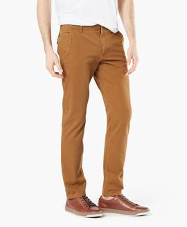 ALPHA KHAKI 360º SKINNY TAPERED DARK GINGER