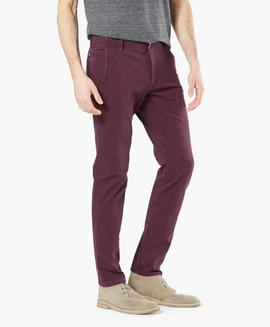 ALPHA KHAKI 360º SKINNY TAPERED DEEP BURGUNDY