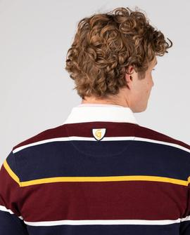 POLO RUGBY ROWING SHIRT BURGUNDY LATYMER