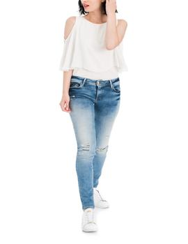 WONDER SKINNY FIT PREMIUN WASH CON ROTOS