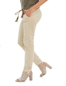 CHINO COLETTE SKINNY FIT BEIGE CON CINTURÓN