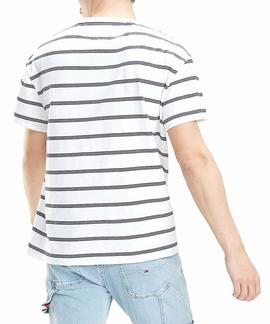 TJM SIGNATURE STRIPE TEE RELAXED FIT CLASSIC WHITE