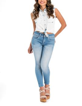 SECRET CAPRI SKINNY FIT EN DENIM AZUL