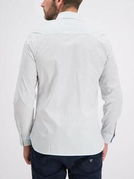 LS COLLINS SHIRT REGULAR FIT WHITE STARS