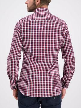LS JEFFERSON SHIRT SLIM FIT NAVY - RED