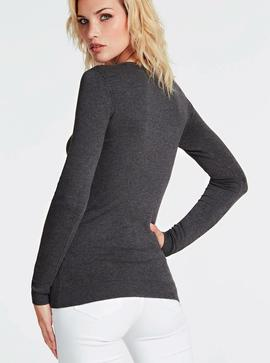 LS RN ELIANA SWEATER DARK COAL HEATHER