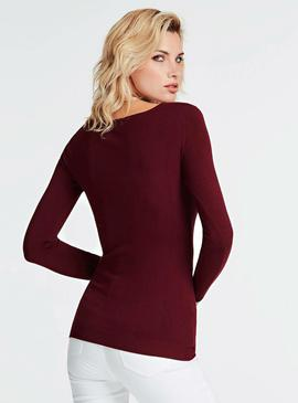 LS RN ELIANA SWEATER MARTINA RED