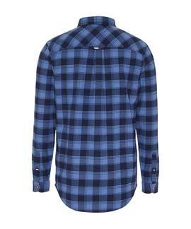 TJM FLANNEL CHECK SHIRT DUTCH BLUE
