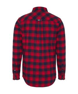 TJM FLANNEL CHECK SHIRT FLAME SCARLET