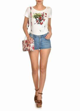 FLORAL LOGO PRINT T-SHIRT TRUE WHITE