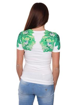 SS VN FLOWER TEE TRUE WHITE / GREEN